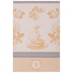 Coucke LA RUCHE DOREE PJ tea towels 50*75 кух.полотенце бл.оранж-серое, пчелы, мед